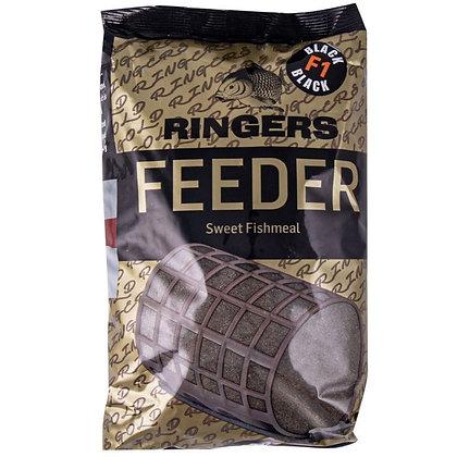 Ringers Feeder Sweet Fishmeal F1 Black Mix Groundbait
