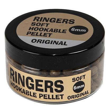 Ringers Natural Soft Hookable Pellets 6mm