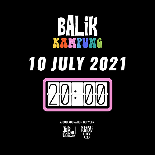 """Balik Kampung"" Tasting Flight & Food Pairing - 10 July (Sat) at 8pm"