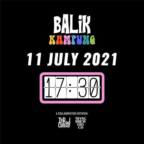 """Balik Kampung"" Tasting Flight & Food Pairing - 11 July (Sun) at 5:30pm"