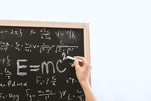 Chalk board maths