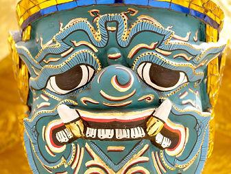 Chinese deity head