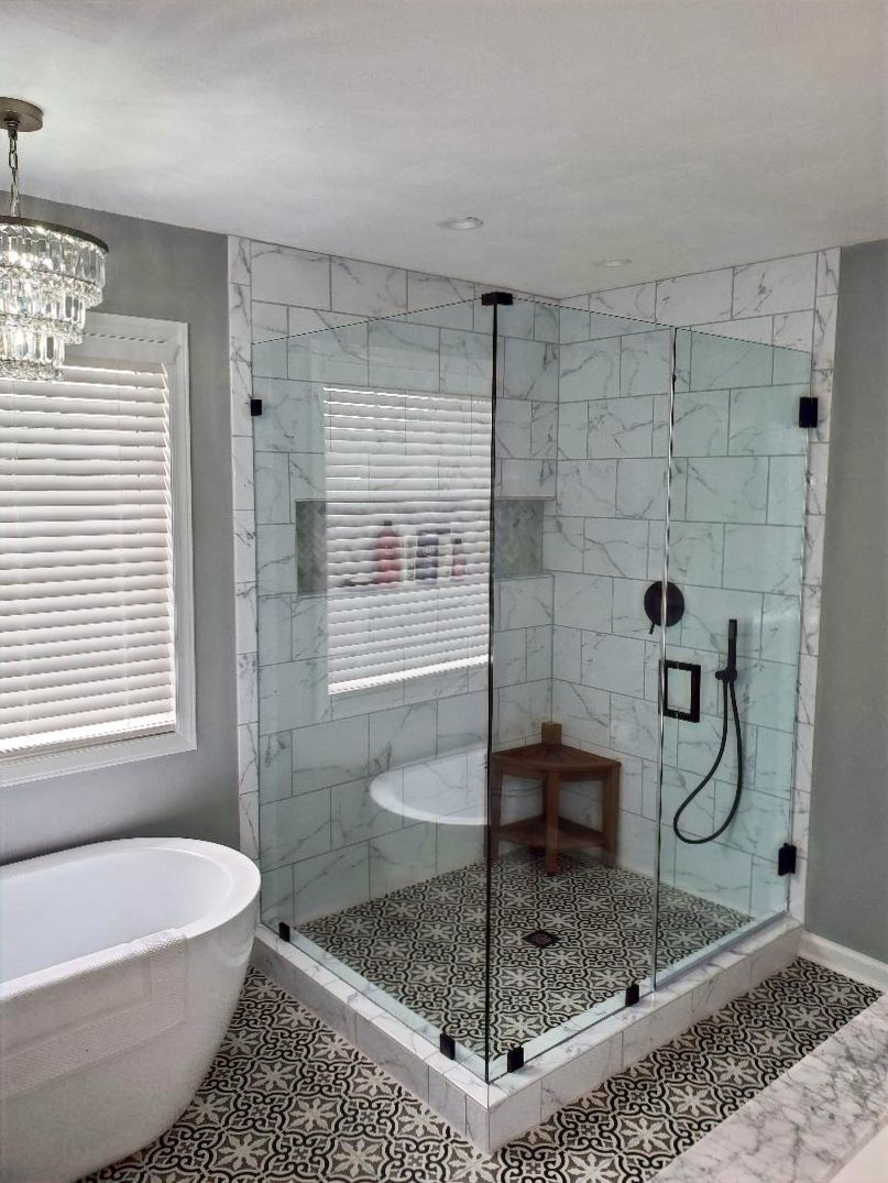 Shower Doors Tub Enclosures Roanoke Virginia Custom Frameless