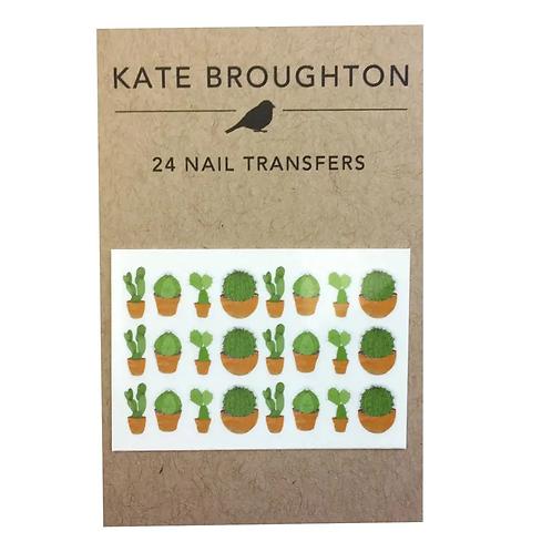 Cactus Nail Transfers