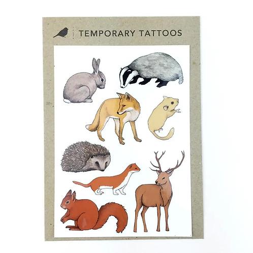 Woodland Animals Temporary Tattoos