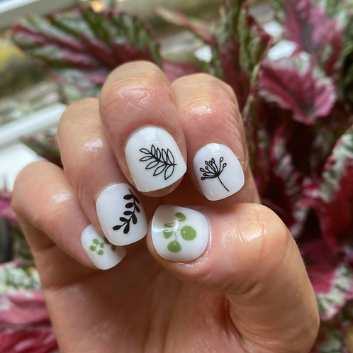 Nature Flowers Nail Transfers