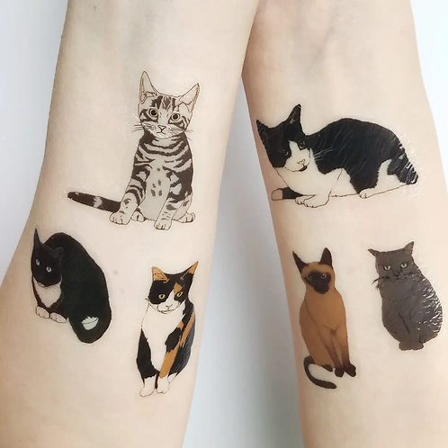 Cat Temporary Tattoos