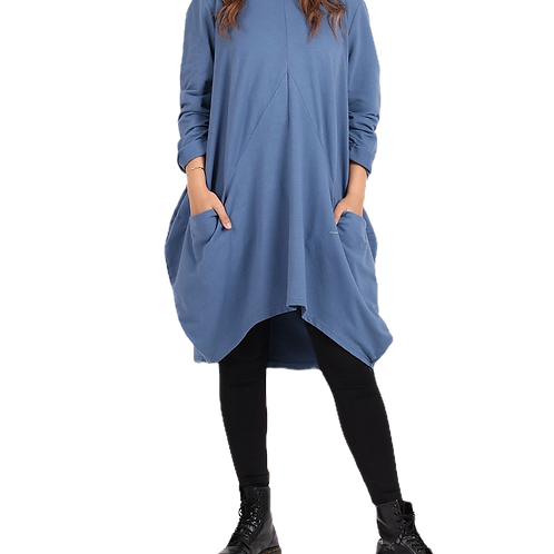 Oversized Loose Fit Long Sleeved Dress