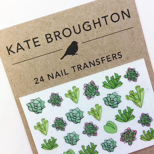 Succulents Nail Transfers