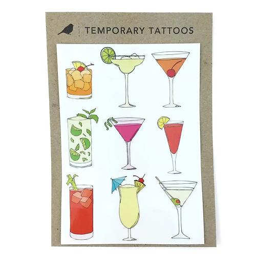 Cocktails Temporary Tattoos