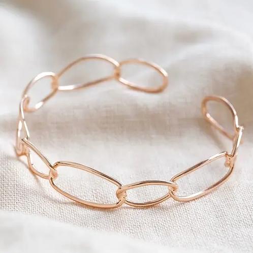 Rose Gold Infinity Link Torque Bangle