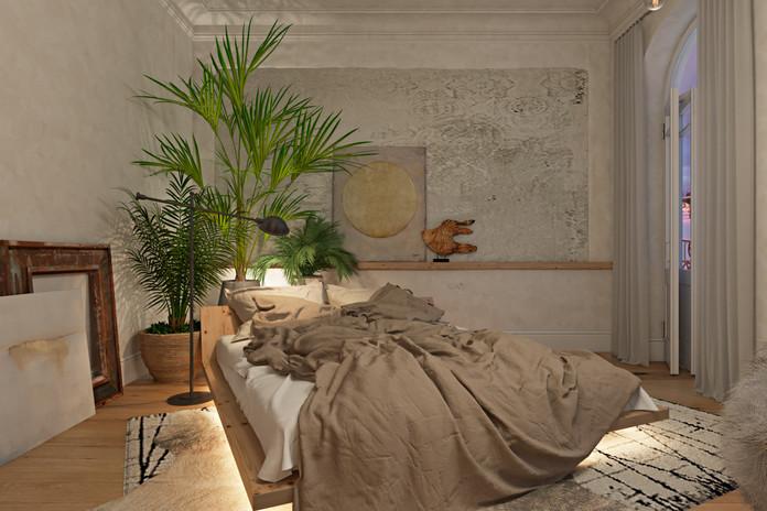 Спальня. Вечернее освещение