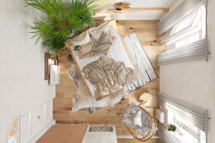 Спальня, вид сверху