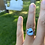 Thumbnail: Sterling silver. Natural golden hills turquoise size 6.5.