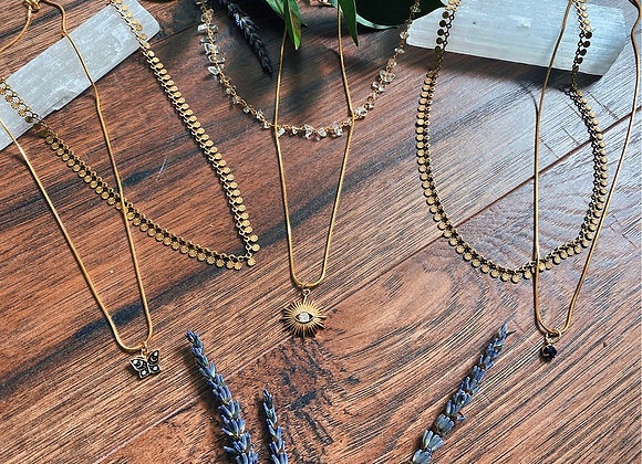 Stackable necklaces — Messae detail of which one