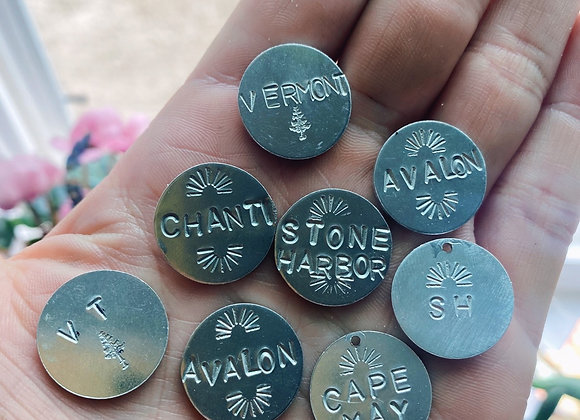 Custom Name or Dog Tags — message what you would like stamped