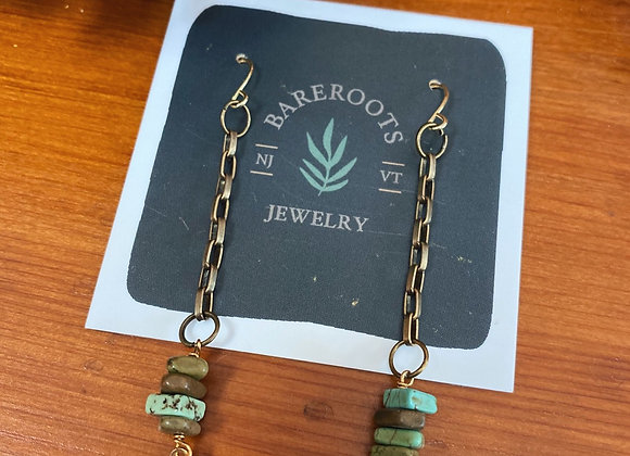 Turquoise brass arrows