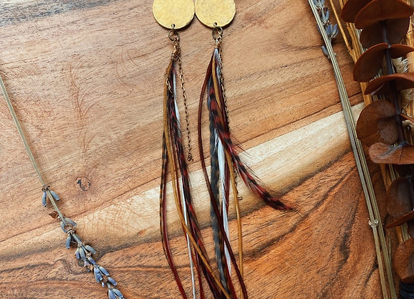 Brass rooster feathers
