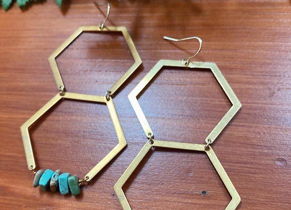 Turquoise Honeycombs
