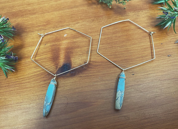 Opal/Jasper Mix Stone Combs
