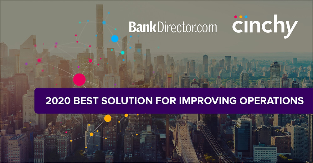 Cinchy leading data fabric technology recognized as best way to improve operations in financial services by bank director