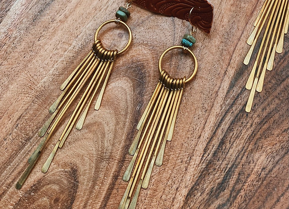 Long turquoise Fringe