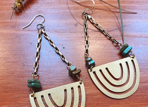 Turquoise cut outs