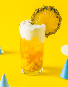 Drinks-pineapple drink with cheese foam.