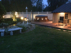 Wikinger Garten mit Grillkota 9,2 Whirlpool und Saunaanbau2