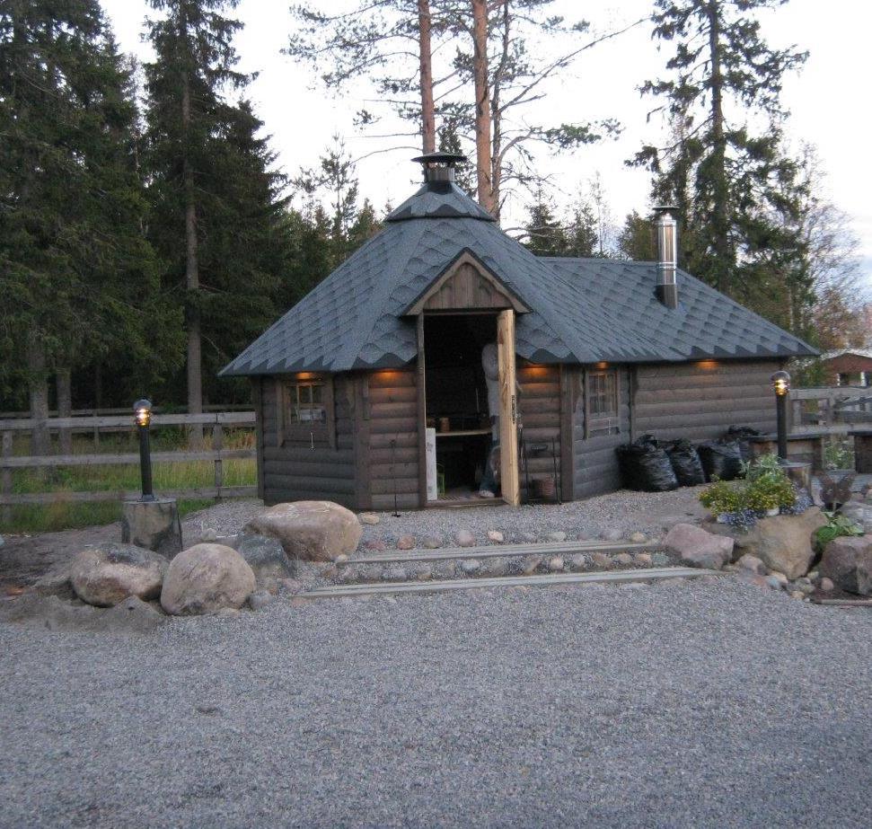 Kota von Wikinger Grill mit Sauna anbau rustikal