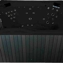 Whirlpool emotion Spa für 5 Rund schwarz