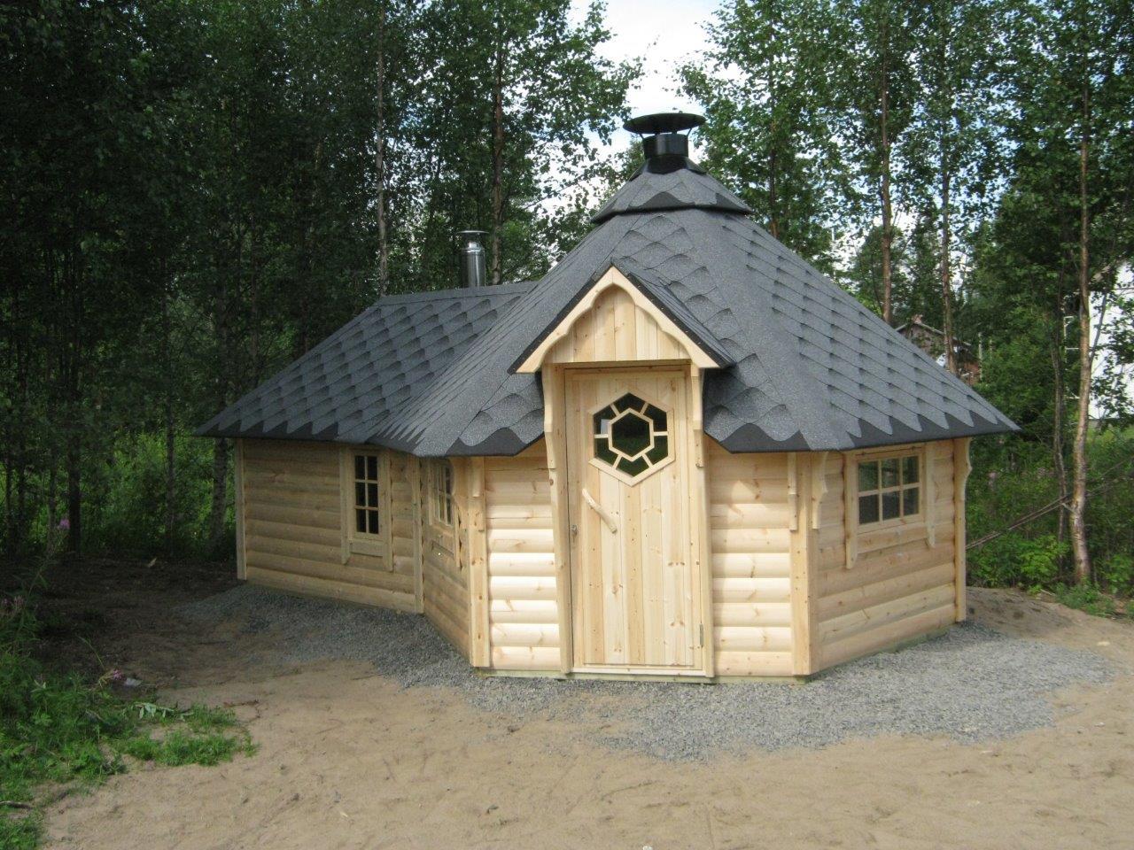 9,2 m2 Wikinger Grill Kota mit Sauna Kota