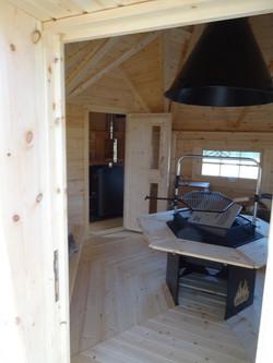 Wikinger Grillkota 9,2 m2 mit Saunaanbau