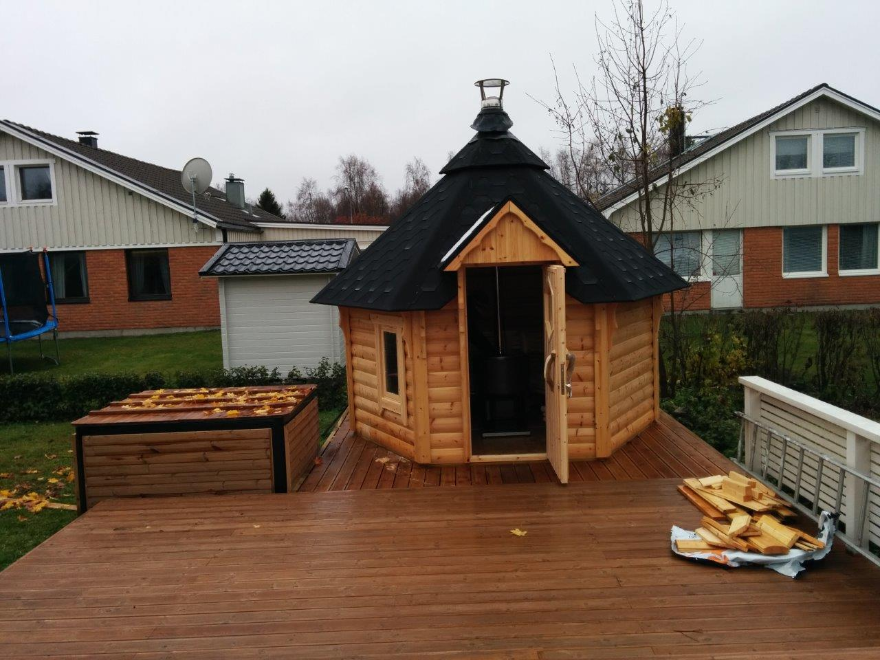Wikinger Sauna 7qm Holbefeuert