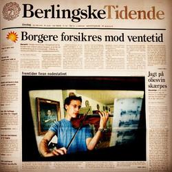 Front Page of Berlingske Tidende