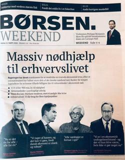 BØRSEN Front Page