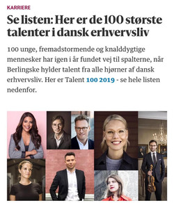 Berlingske Talent 100 (front page)