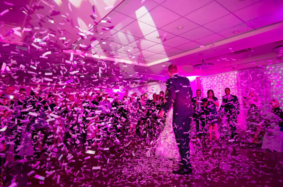 Confetti during First Dance