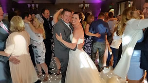 Beautiful Bride and Groom enjoying a dance at Nutfield Priory