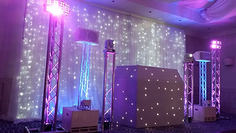 White Wedding Package with Starlit Backdrop