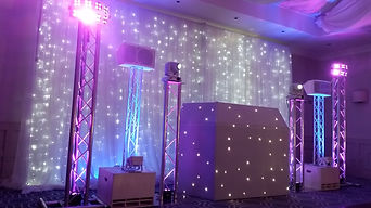 Beautiful White DJ Package with Starlit Backdrop