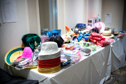 Table of photo booth props