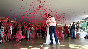 Confetti Explosion during First Dance at Foxhills