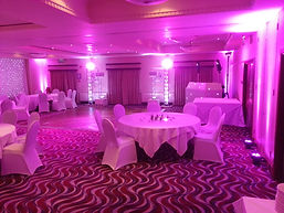 Pink Uplighting with Best Wedding DJ in Hampshire