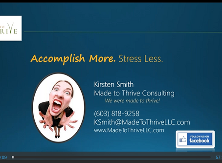 Webinar Replay - Accomplish More, Stress Less