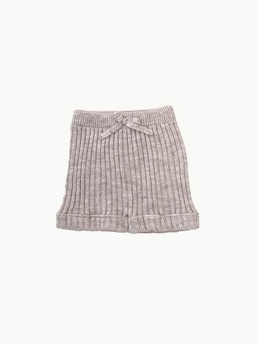 Beige Knitted shorts /Calções beges pecesa malha