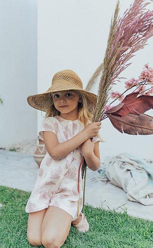 Terracotta Levaes jumpsuit / Macacão com folhas terra