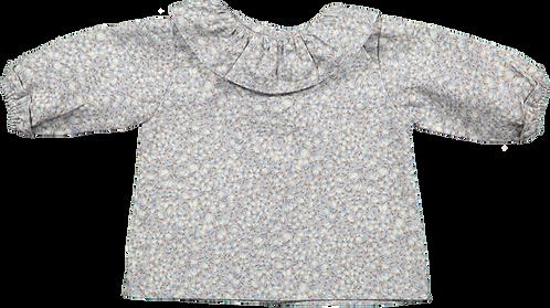Blue flowers baby shirt/ Camisa bebe flores azuis