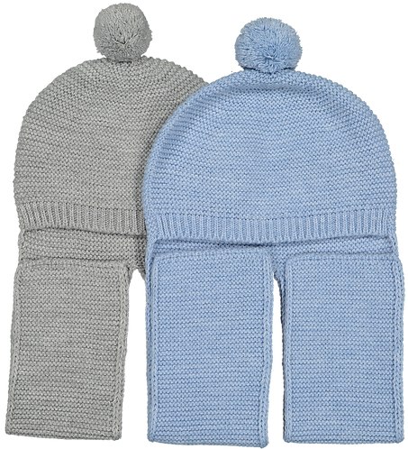 Baby cap with scarf/ Gorro de bebe com cachecol
