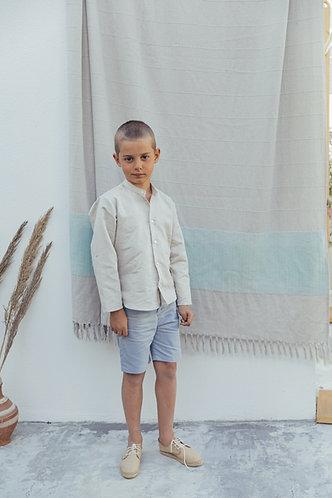 Beige linen shirt/ Túnica linho bege